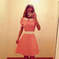 Платье с поясом и воротником