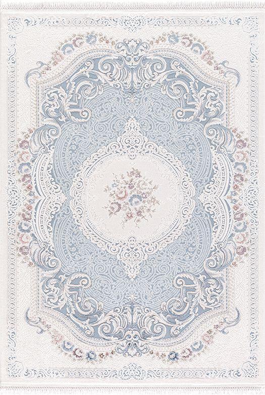 Ковер BELMOND K184A l. blue/h.b cream, 1.2x1.8, Прямоугольник - Nika Carpet  в Николаеве