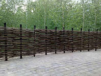 Украинский забор из лозы высота 1 метр