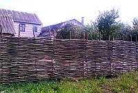 Плетеный тын украинский из лозы для дачи высота 1 метр