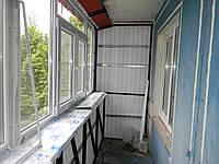 """Внутрення отделка балкона шести метрового от компании """"Чешир."""