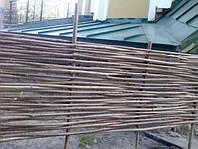Ограждение из лозы для декора дачи высота 1 метр