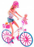 Кукольный набор Штеффи с малышом на велосипеде, Steffi & Evi Love