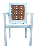 Украина Кресло пластиковое Хризантема белое