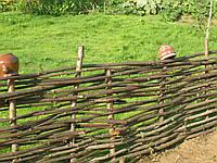 Ограждение плетеное из лозы для сада 1.6 метра