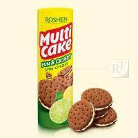 Печиво РОШЕН мульти-кейк  крекер fun & crispy з лаймовою начинкою 135г\35
