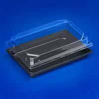 Контейнер из полистирола черный с прозрачной крышкой для суши ПРС 25 320 шт/уп