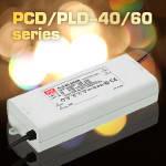 PCD/PLD-40/60 – новые LED драйверы с диммингом и ККМ от Mean Well