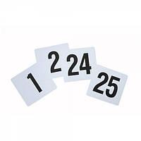 Карт-номер банкетный 10х10 см. 1-25 номер