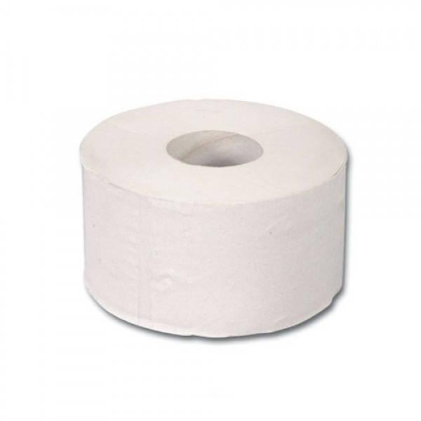 Бумага туалетная макулатурная на гильзе джамбо серая 19х10 см.
