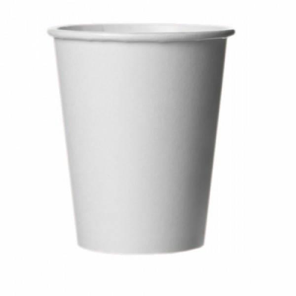 Стакан бумажныйх белый 250 мл 50 шт/уп