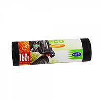 Мешки для мусора LD крепкие черные , 160л, 10шт/рул
