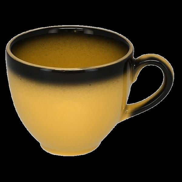 Чашка 200 мл. фарфоровая, желтая с черным ободком Lea, RAK