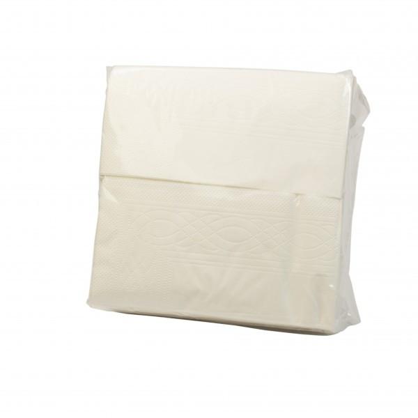 Салфетка бумажная 1/4 сложение 2-х слойная 33х33 см. 100 шт/уп белая Львов