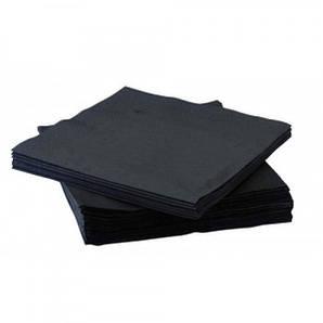 Салфетка бумажная 2-х слойная 33х33 см., 50 шт/уп черная Silpak