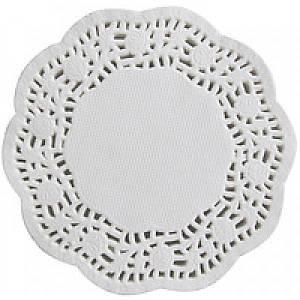 Салфетка подставная ажурная круглая 90 мм., 100 шт/уп