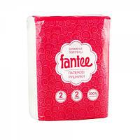 Полотенце бумажное 2 слоя белое Fantee 2рулона/уп