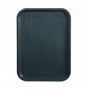 Поднос пластмассовый для фаст-фудов 45х35 см., зеленый Winco
