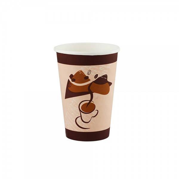 Стакан бумажный 200 мл., 50 шт/уп с рисунком Кофе Чай