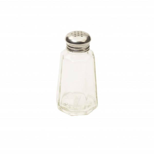 Спецовница для соли, перца, специй стеклянная 4,6х9,5 см. с металлической крышкой Winco