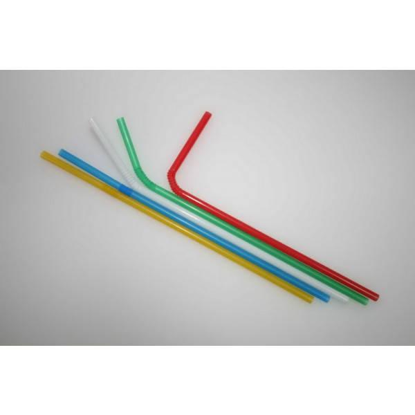 Соломка цветная-ассорти с коленом, 210 мм., 1000шт/уп