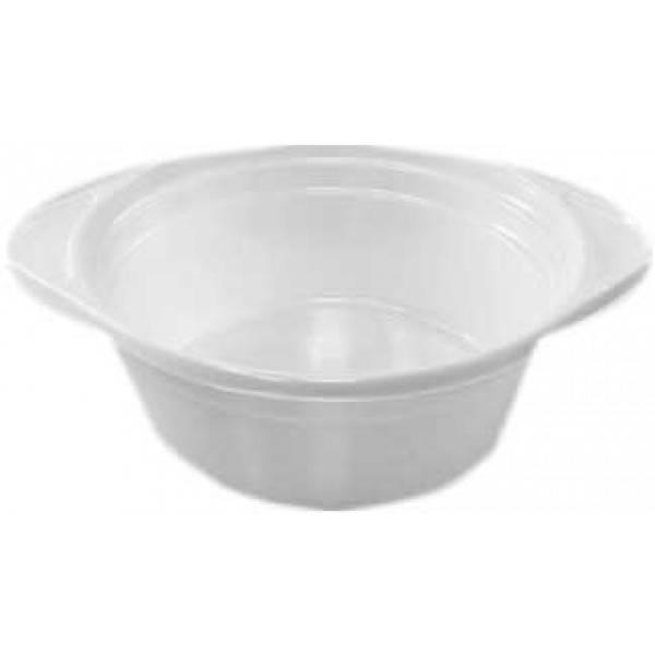 Тарелка глубокая одноразовая 500 мл., 15 см., 100 шт/уп пластиковая белая