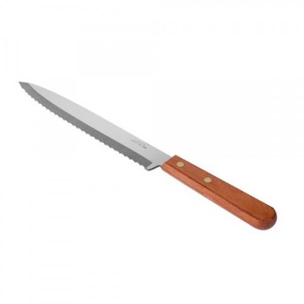 Нож для хлеба (сендвичей) 20 см. с деревянной ручкой CAPCO