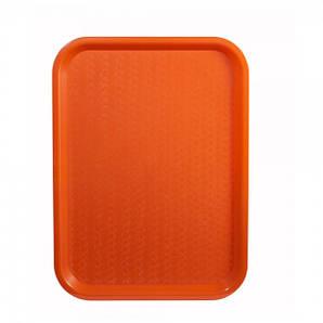 Поднос пластмассовый для фаст-фудов 40х30 см., оранжевый Winco