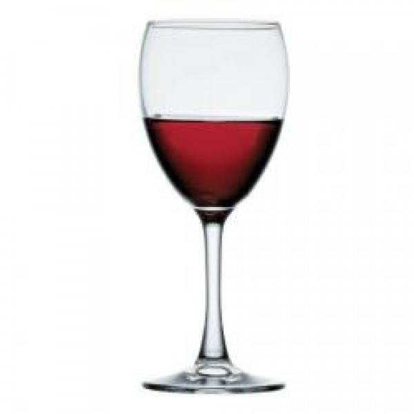 Бокал для вина 240 мл. на ножке, стеклянный Imperial Plus, Pasabahce