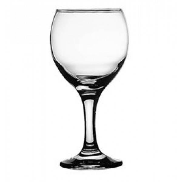 Бокал для вина и воды 260 мл. на ножке, стеклянный Bistro, Pasabahce