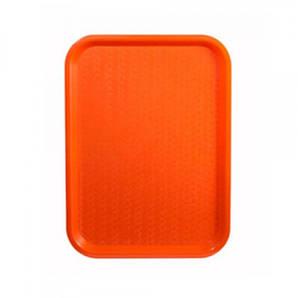 Поднос пластмассовый для фаст-фудов 45х35 см., оранжевый Winco