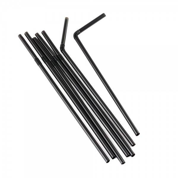 Соломка черная с коленом, 210 мм., 1000шт/уп