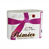 Салфетки бумажная барная для диспенсера 2-х слойная 300 шт/уп Primier