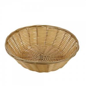 Хлебница плетенная круглая 20 см., глубина 7,5 см.