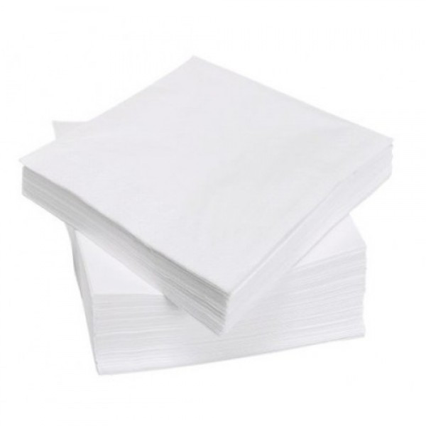 Салфетка бумажная 2-х слойная 24х24 см., 200 шт/уп белая