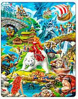 Пазл рамка-вкладыш Сказки Европы (30 эл.), серия Макси, Larsen