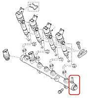 Клапан топливной рейки (механический) на Рено Трафик II 1.9dCi - BOSCH (Германия) 1110010017