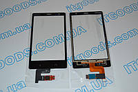 Тачскрин / сенсор (сенсорное стекло) для Nokia X2 Dual SIM (черный цвет)