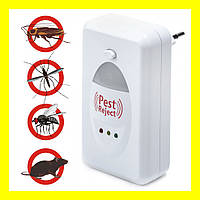 Ультразвуковой электромагнитный отпугиватель насекомых и грызунов Pest Reject