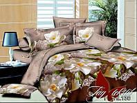 Полуторный комплект постельного, полисатин 3D, PS-HL136