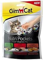 400693 GimCat Nutri Pockets Malt Vitamin Mix лакомство микс, 150 гр
