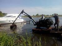 Услуги плавающего экскаватора, экскаватор на воде, фото 1