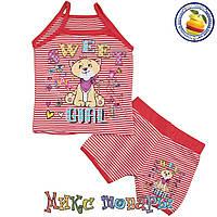 Трикотажный костюм с майкой для девочки Размеры: 110-116-122-128 см (3474-5)