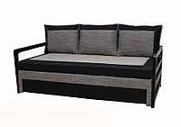 Диван Garnitur Лотос черно-серый 200 см