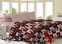 Плед на кровать, плед покрывало, (микрофибра), VL117