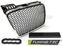 Решетка радиатора тюнинг Audi A4 b7 стиль RS хром