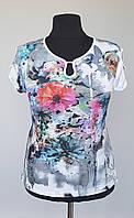 Легкая летняя  блуза с пояском