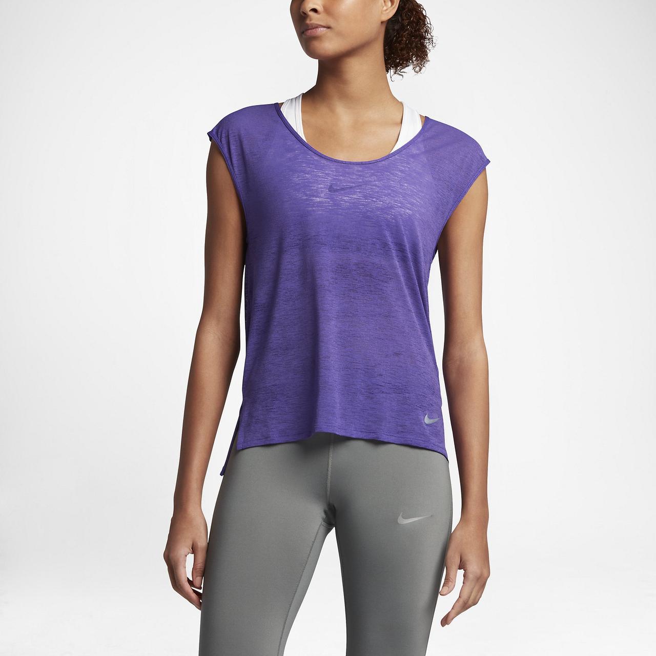 Женская футболка NIKE brthe top cool (831784-540)