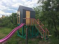 Детский домик с горкой, фото 1