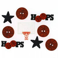 Декоративные пуговицы. Баскетбол